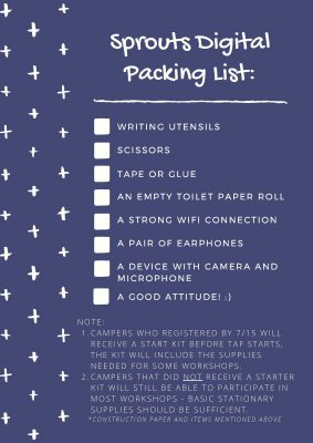 Sprouts packing list